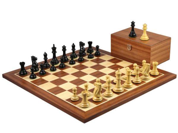 mahogany staunton chess set ebonised staunton chess pieces