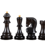 Zagreb 1959 Series Staunton Ebonised Boxwood 3.50″ Chess Pieces With Storage Box