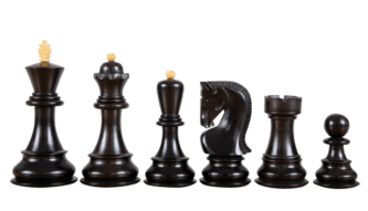 Zagreb Chess Pieces 1959 Series Staunton Ebonised Boxwood 3.75″