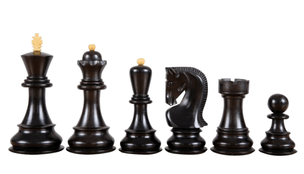 zagreb staunton ebonised chess pieces