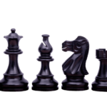 Atlantic Classic Staunton Ebonised Boxwood 3.75″ Chess Pieces With Storage Box Tournament