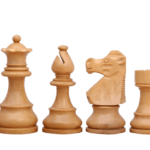 French Lardy Chess Pieces Staunton Ebonised Boxwood 3″