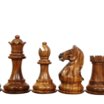 Fierce Knight Chess Pieces Staunton Sheesham Boxwood 3.75″