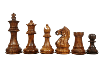 Fierce Knight Staunton Sheesham Boxwood 3.75″ Chess Pieces With Storage Box