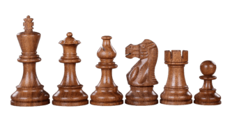 Atlantic Classic Staunton Sheesham Boxwood 3″ Chess Pieces With Storage Box