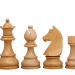 Downhead German Staunton Ebonised Boxwood 3.75″ Chess Pieces With Storage Box