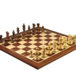 Master Range Wooden Chess Set Mahogany Board 21″ Weighted Sheesham Atlantic Classic Staunton Pieces 3.75″