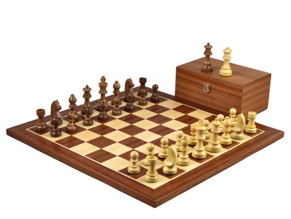 mahogany staunton chess set with german staunton chess pieces