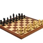 Master Range Wooden Chess Set Mahogany Board 21″ Weighted Ebonised Atlantic Series Classic Staunton 3.75″