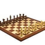 Master Range Wooden Chess Set Mahogany Board 21″ Weighted Sheesham Morphy Series Professional Staunton Pieces 3.75″