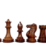 1884 Morphy Series Professional Staunton Sheesham Boxwood 3.75″ Chess Pieces With Storage Box