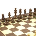 Master Range Wooden Chess Set Walnut Board 21″ Weighted Sheesham Staunton French Knight Pieces 3.75″