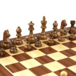 Master Range Wooden Chess Set Mahogany Board 21″ Weighted Sheesham German Staunton Pieces 3.75″