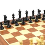 Master Range Wooden Chess Set Mahogany Board 21″ Weighted Ebonised Morphy Series Professional Staunton 3.75″