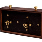 Chess Clock Analog Dark Wood