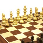 Master Range Wooden Chess Set Mahogany Board 21″ Weighted Sheesham Staunton French Knight Pieces 3.75″