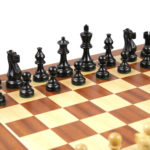 Atlantic Classic Chess Pieces Staunton Ebonised Boxwood 3″