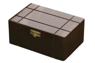 Chess Box Solid Sheesham Wood With Metal Clasp 4.25″