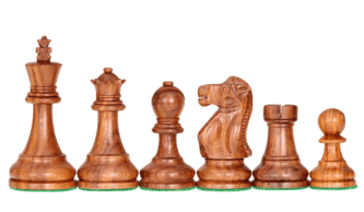 1972 Reykjavik Broadbase Series Staunton Sheesham Boxwood 4″ Chess Pieces With Storage Box