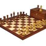 Executive Range Wooden Chess Set Mahogany Board 20″ Weighted Sheesham Zagreb Staunton Pieces 3.75″