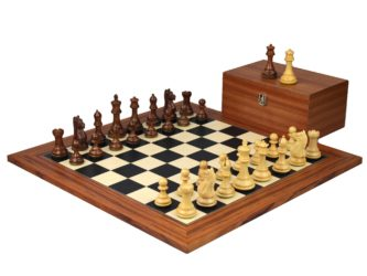 Executive Range Wooden Chess Set Palisander Board 20″ Weighted Sheesham Staunton Fierce Knight Pieces 3.75″