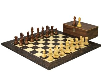 Executive Range Wooden Chess Set Tiger Ebony Board 20″ Weighted Sheesham Staunton Fierce Knight Pieces 3.75″