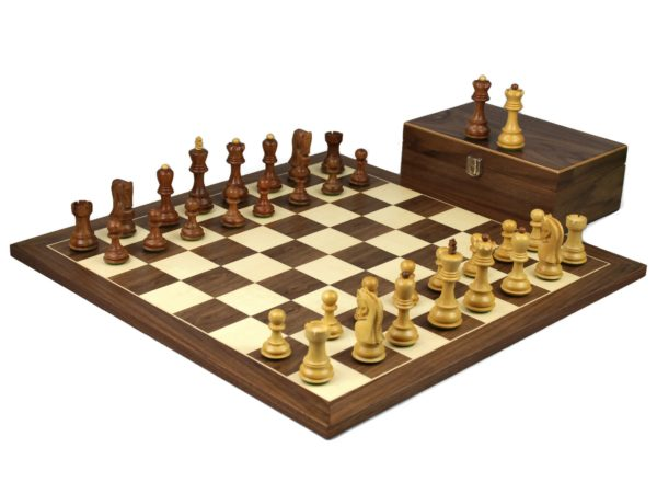 walnut staunton chess set with sheesham zagreb chess pieces