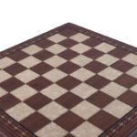 "Premium Range Helena Chess Board ""Walnut Wood""- 20″"