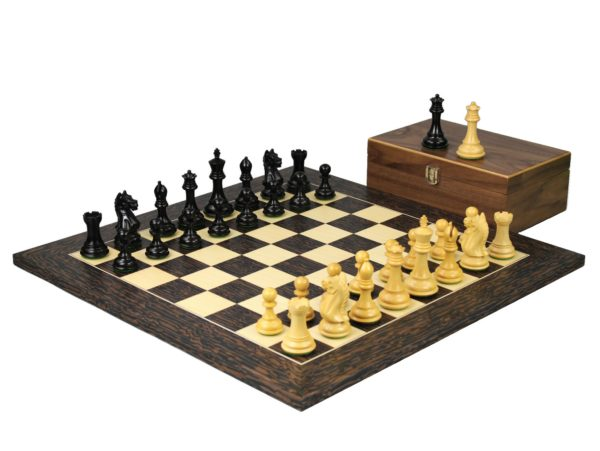 tiger ebony staunton chess set ebonised fierce knight chess pieces