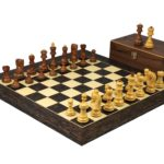 Executive Range Wooden Chess Set Tiger Ebony Board 20″ Weighted Sheesham Zagreb Staunton Pieces 3.75″