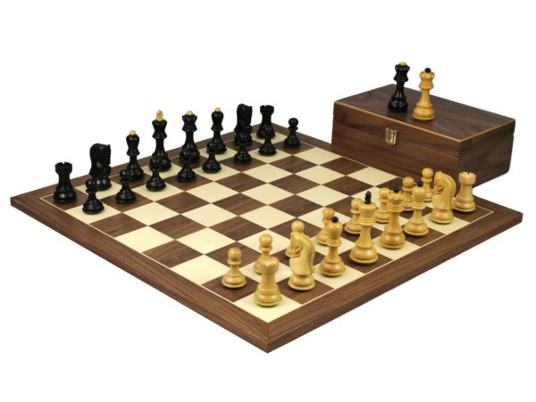 wlalnut staunton chess set ebonised zagreb chess pieces