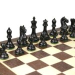 Master Range Wooden Chess Set Wenge Board 21″ Weighted Ebonised Staunton Fierce Knight Pieces 3.75″