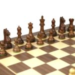 Executive Range Wooden Chess Set Walnut Board 20″ Weighted Sheesham Staunton Fierce Knight Pieces 3.75″