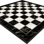 "Classic Range Wooden Flat Chess Board – ""Marble""- 17″"