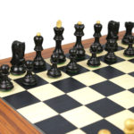 Executive Range Wooden Chess Set Palisander Board 20″ Weighted Ebonised Zagreb Staunton Pieces 3.75″