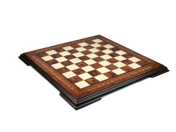 Rosewood chess set with mother of pearl inlay, all offered with free delivery in the united kingdom