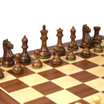 Executive Range Wooden Chess Set Mahogany Board 20″ Weighted Sheesham Staunton Fierce Knight Pieces 3.75″