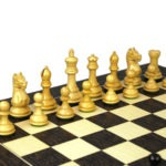 Executive Range Wooden Chess Set Tiger Ebony Board 20″ Weighted Ebonised Staunton Fierce Knight Pieces 3.75″