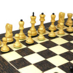 Executive Range Wooden Chess Set Tiger Ebony Board 20″ Weighted Ebonised Zagreb Staunton Pieces 3.75″
