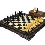 Premium Range Helena Chess Set Ebonywood 20″ Weighted Ebonised Atlantic Classic Staunton Chess Pieces 3.75″