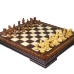 Premium Range Helena Chess Set Walnut 17″ Weighted Sheesham Atlantic Classic Staunton Chess Pieces 3″