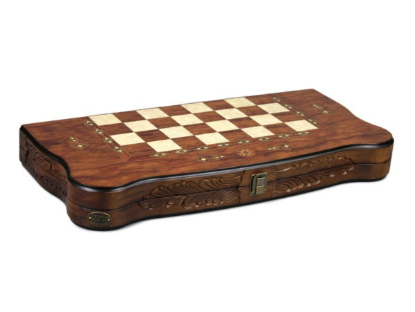 rosewood helena carved backgammon set
