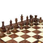 Premium Range Helena Chess Set Rosewood 20″ Weighted Sheesham Fierce Knight Staunton Chess Pieces 3.75″