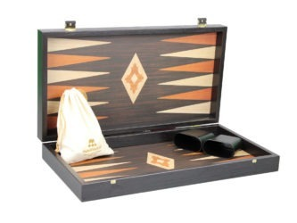 "Executive Range Manopoulos Backgammon Set ""Wenge & Oak""- 20″"