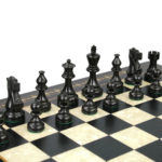Premium Range Helena Chess Set Ebonywood 17″ Weighted Ebonised Atlantic Classic Staunton Chess Pieces 3″