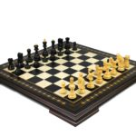 Premium Range Helena Chess Set Ebonywood 20″ Weighted Ebonised Zagreb Staunton Chess Pieces 3.75″