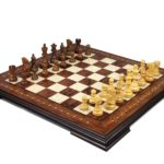 Premium Range Helena Chess Set Rosewood 23″ Weighted Sheesham Atlantic Classic Staunton Chess Pieces 3.75″