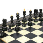 Zagreb Chess Pieces 1959 Series Staunton Ebonised Boxwood 3.50″
