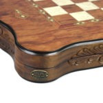"Luxury Range Helena Backgammon Set ""Carved Rosewood"" – 20″ – 2181"