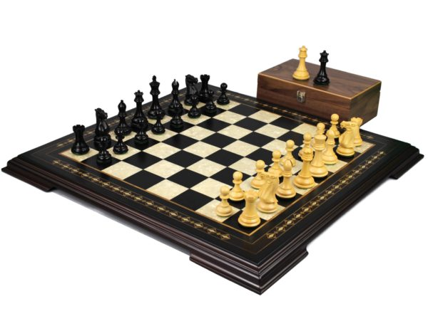 ebony staunton chess set with professional staunton chess pieces